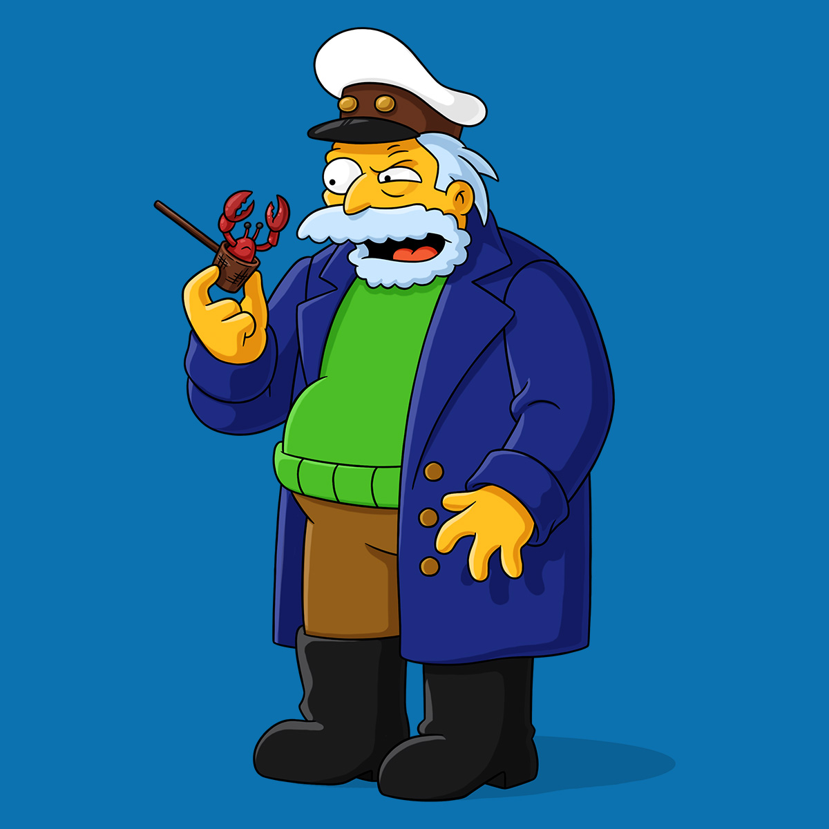 Image result for simpsons sea captain