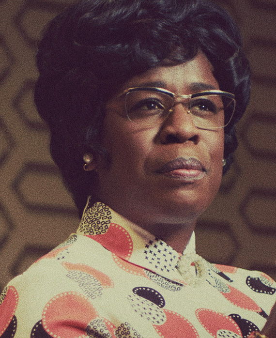 Uzo Aduba as Shirley Chisholm