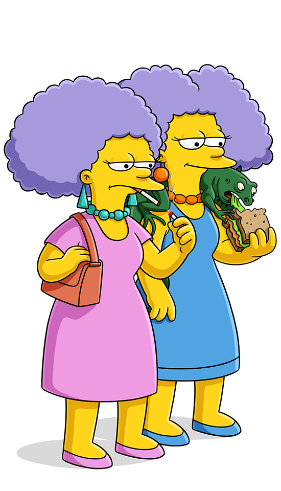 selma and patty bouvier simpsons world on fxx
